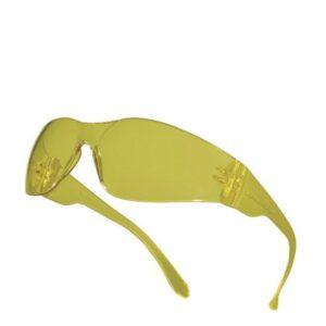 DeltaPlus bril Polycarbonaat uit 1 stuk, platte spatels geel
