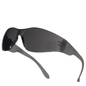 DeltaPlus bril Polycarbonaat uit 1 stuk, platte spatels zwart