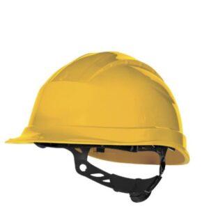 DeltaPlus veiligheid bouwhelm met rotorsluiting geel