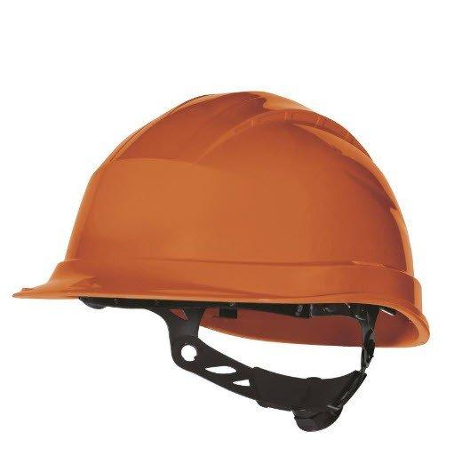 DeltaPlus veiligheid bouwhelm met rotorsluiting oranje