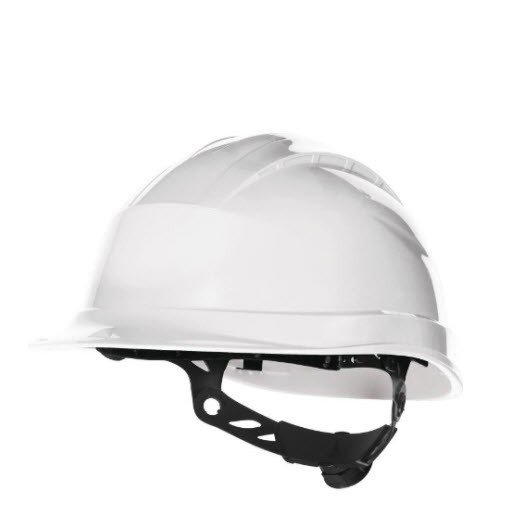 DeltaPlus veiligheid bouwhelm met rotorsluiting wit