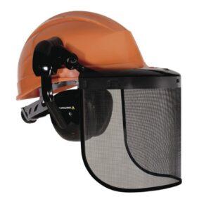 DeltaPlus veiligheidshelm met draadvizier, gehoorbescherming