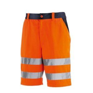 TeXXor Hi-Vis korte werkbroek Erie oranje
