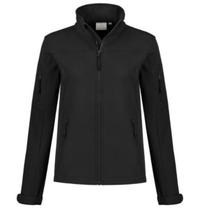Santino Santo Dames Softshell stretch zwart