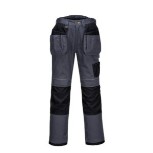 PortWest PW3 werkbroek Kingsmill + pockets grijs