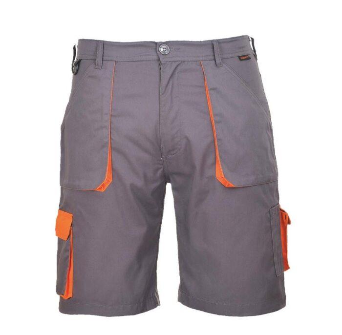 PortWest korte broek Texo contract 2color grijs-oranje
