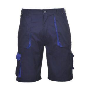 PortWest korte broek Texo contract 2color marine-blauw