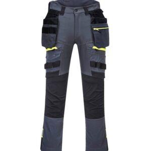 PortWest werkbroek DX4 met holsterzakken grijs