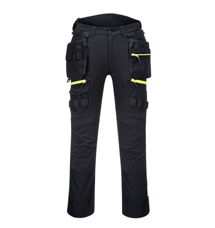PortWest werkbroek DX4 met holsterzakken zwart