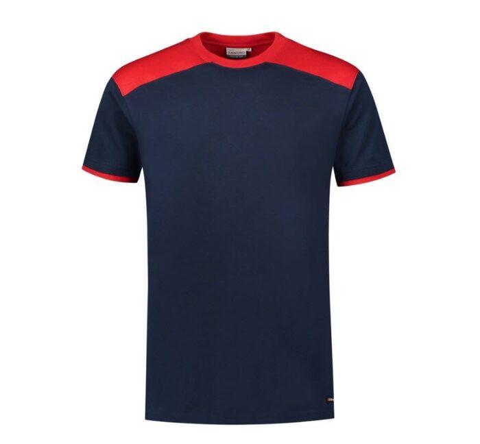 Santino Tiesto 2color T-shirt (190gm2) marine-rood