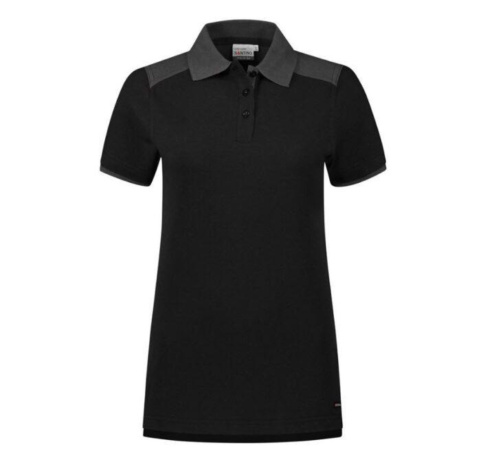 Santino Tivoli 2color Dames Polo-shirt (210gm2) zwart-grijs