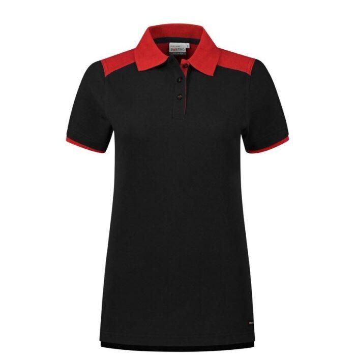 Santino Tivoli 2color Dames Polo-shirt (210gm2) zwart-rood