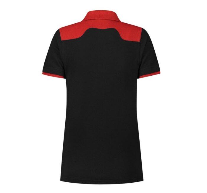 Santino Tivoli 2color Dames Polo-shirt (210gm2) zwart rood b