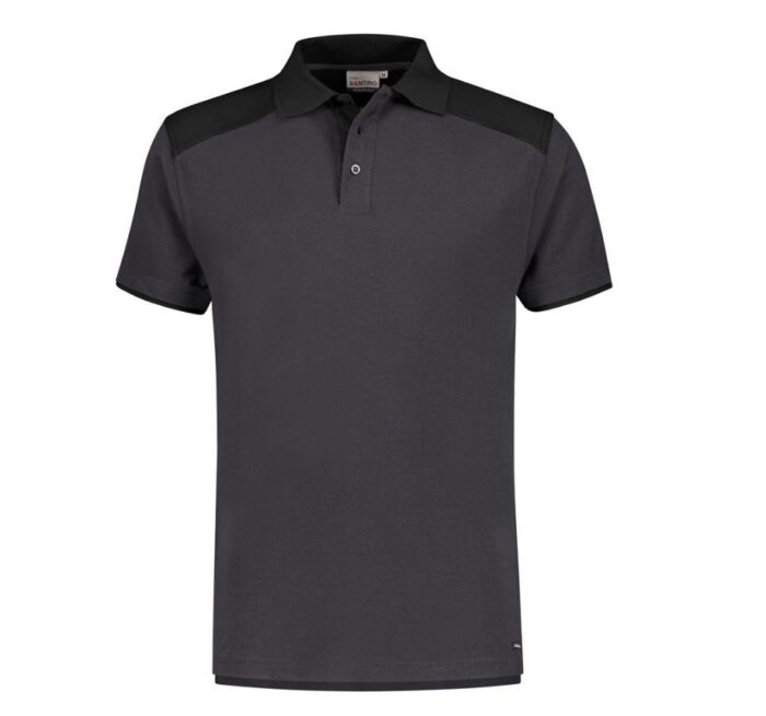 Santino Tivoli 2color Polo-shirt (210gm2) grijs-zwart