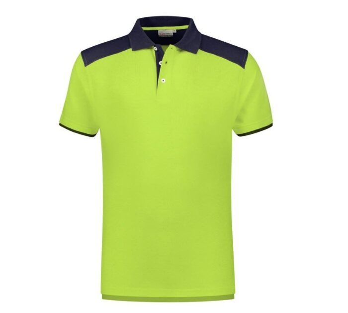 Santino Tivoli 2color Polo-shirt (210gm2) limegroen-zwart