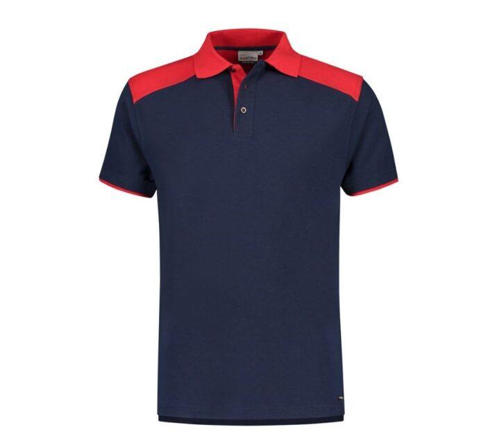 Santino Tivoli 2color Polo-shirt (210gm2) marine -rood