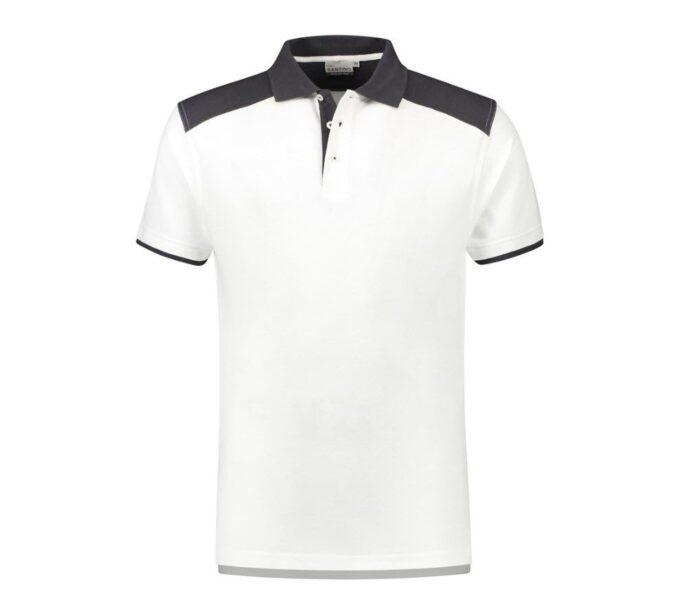 Santino Tivoli 2color Polo-shirt (210gm2) wit-antraciet