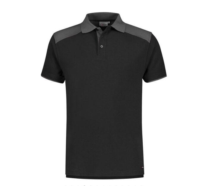 Santino Tivoli 2color Polo-shirt (210gm2) zwart-grijs