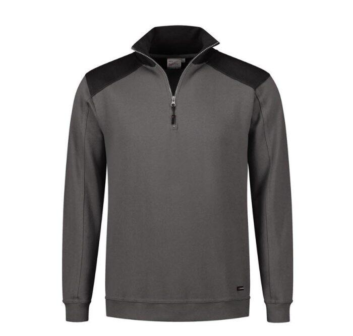 Santino Tokyo 2color Zip sweater (280gm2) antraciet-zwart