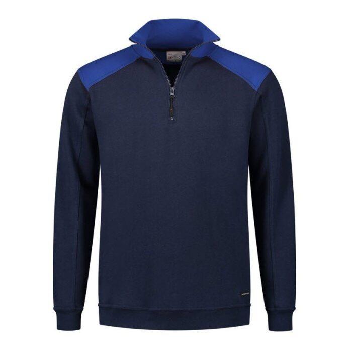 Santino Tokyo 2color Zip sweater (280gm2) marine-blauw