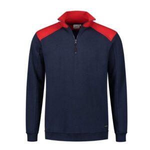 Santino Tokyo 2color Zip sweater (280gm2) marine-rood