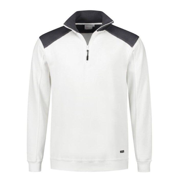 Santino Tokyo 2color Zip sweater (280gm2) wit-zwart
