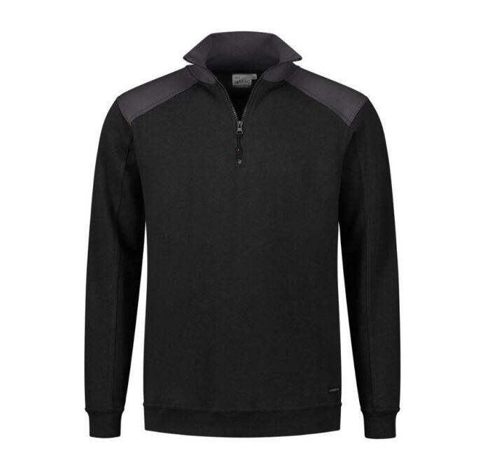 Santino Tokyo 2color Zip sweater (280gm2) zwart-grijs