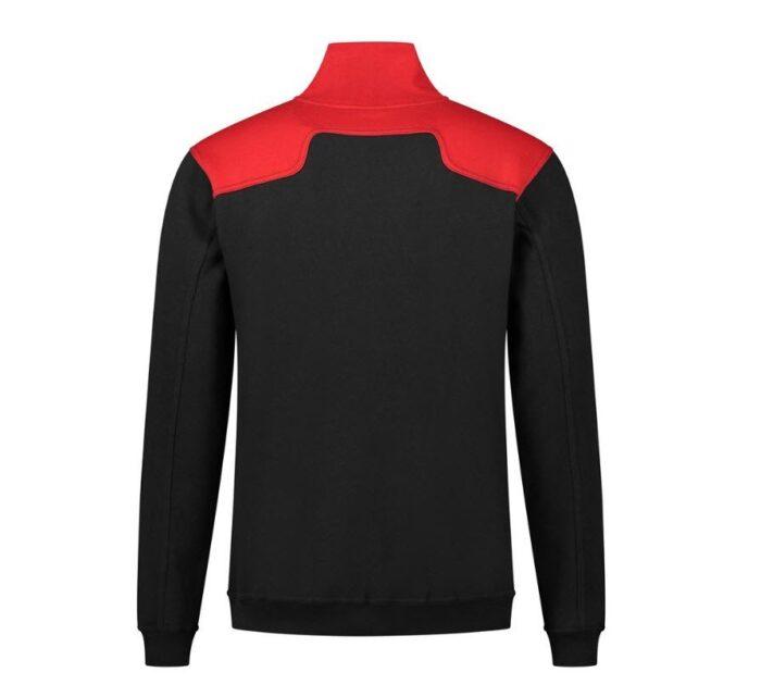 Santino Tokyo 2color Zip sweater (280gm2) zwart-rood-a
