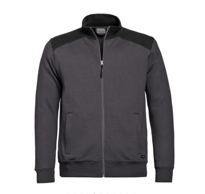 Santino Toronto 2color Zip sweatjack (320gm2) grijs-zwart