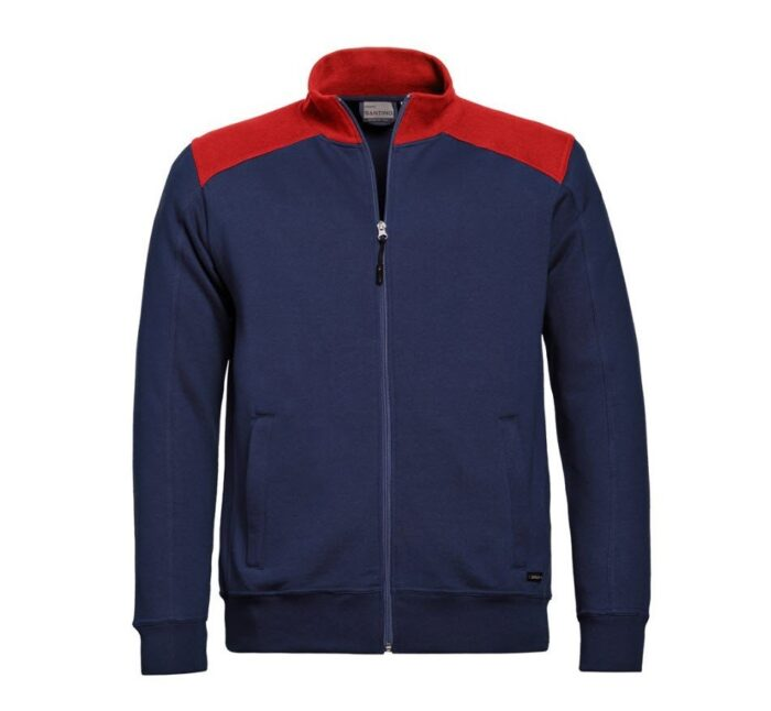 Santino Toronto 2color Zip sweatjack (320gm2) marine-rood