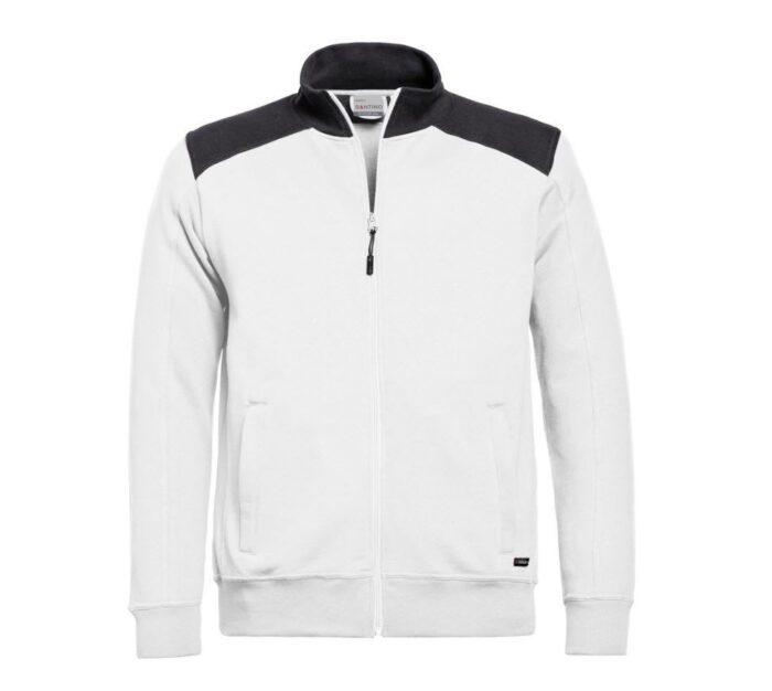 Santino Toronto 2color Zip sweatjack (320gm2) wit-zwart