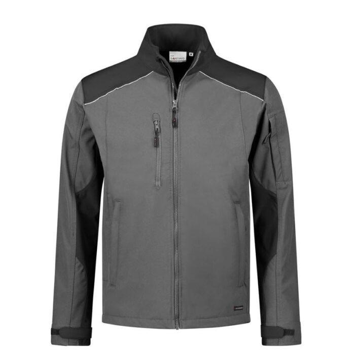Santino Tour 2color Softshell (310g-m2) grijs-zwart
