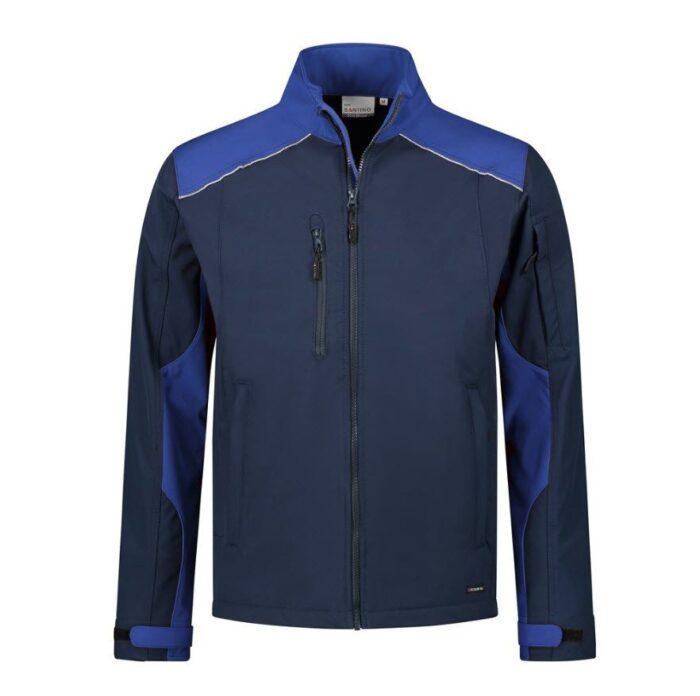 Santino Tour 2color Softshell (310g-m2) marine blauw
