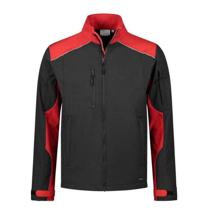 Santino Tour 2color Softshell (310g-m2) zwart-rood