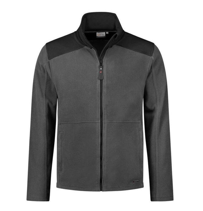 Santino Trento 2color Zip Fleecejack (280g-m2) grijs-zwart