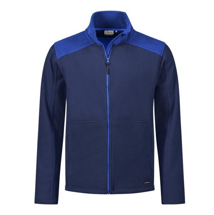 Santino Trento 2color Zip Fleecejack (280g-m2) marine-blauw