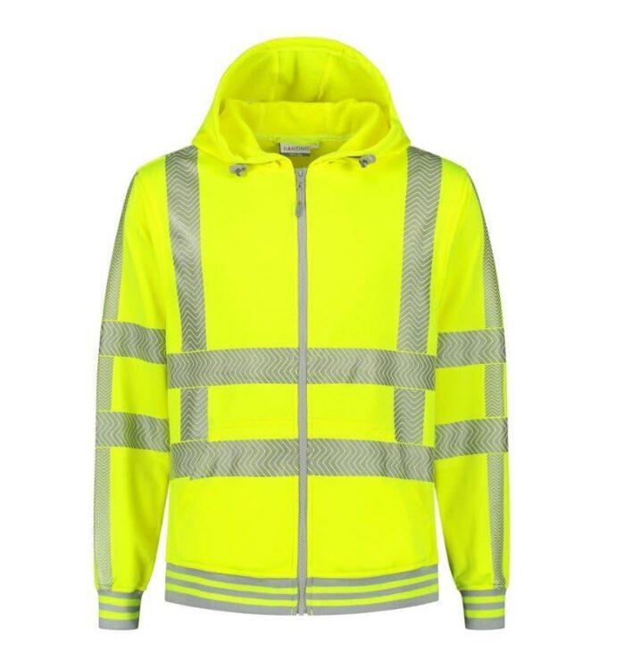 Santino Vermont Hoodi vest (270gr-m2) geel