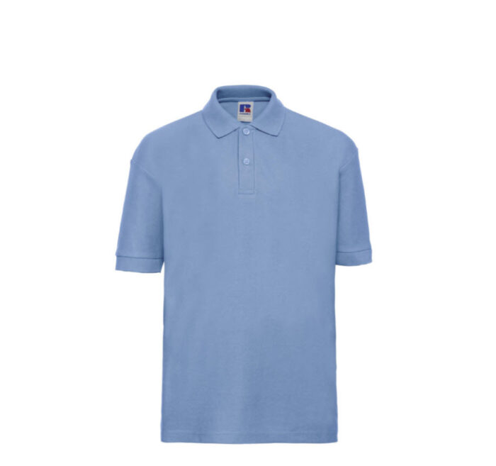 Russell Kinder Polo-shirt Classic 210g-m2 Licht blauw