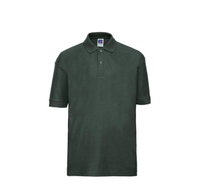 Russell Kinder Polo-shirt Classic 210g-m2 mosgroen