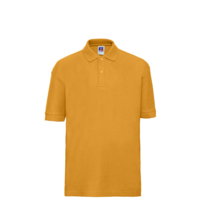 Russell Kinder Polo-shirt Classic 210g-m2 oranje goud
