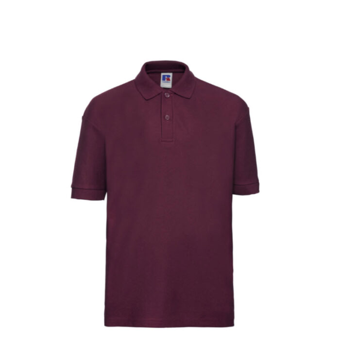Russell Kinder Polo-shirt Classic 210g-m2 wijnrood