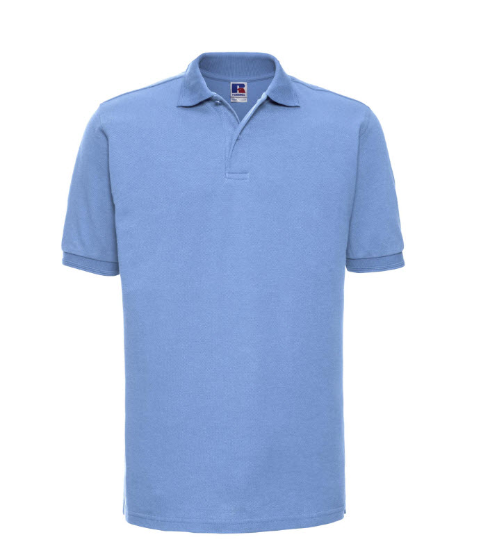 Russell kwaliteits Polo-shirt 210g-m2 L blauw