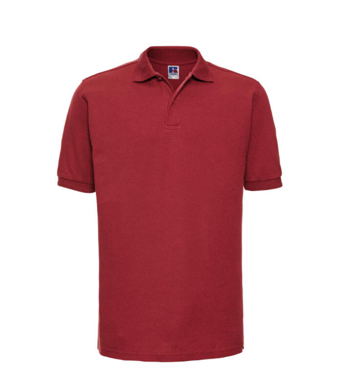 Russell kwaliteits Polo-shirt 210g-m2 rood