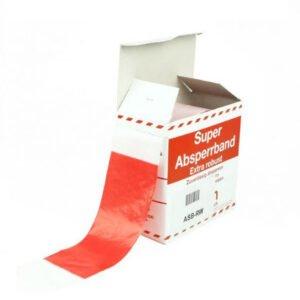 Afzetlint rood-wit 500m op rol in doos