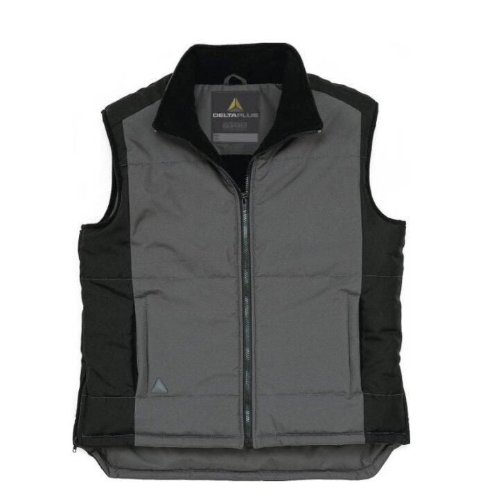 delta plus fidji bodywarmer polyester grijs zwart