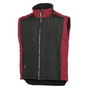 delta plus fidji bodywarmer polyester zwart rood