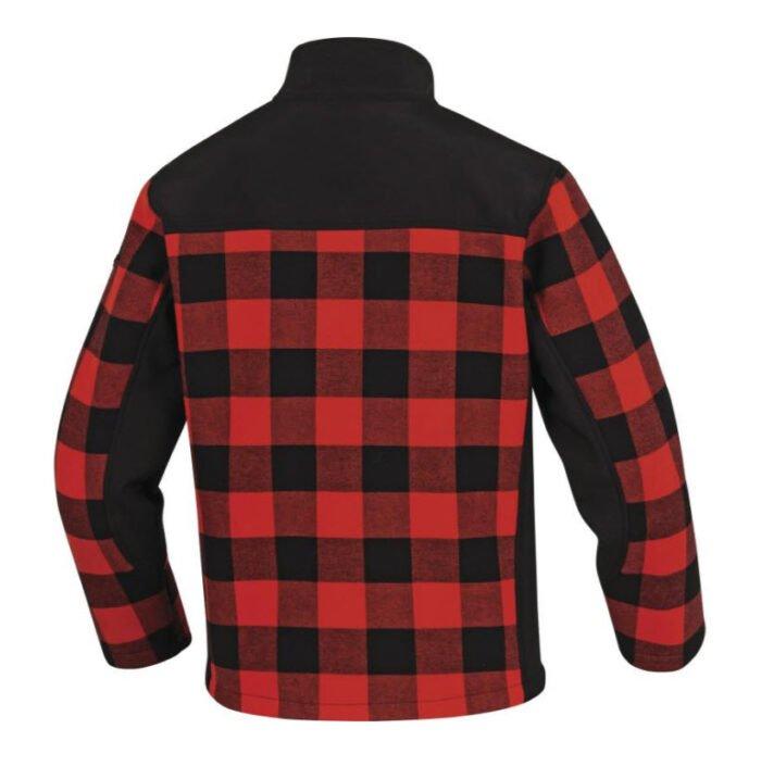 delta plus fleece ruitjes jas, vest rood b