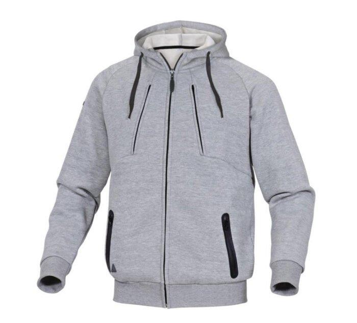 delta plus hoody polyester katoen sweater grijs