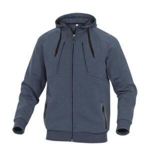 delta plus hoody polyester katoen sweater marine