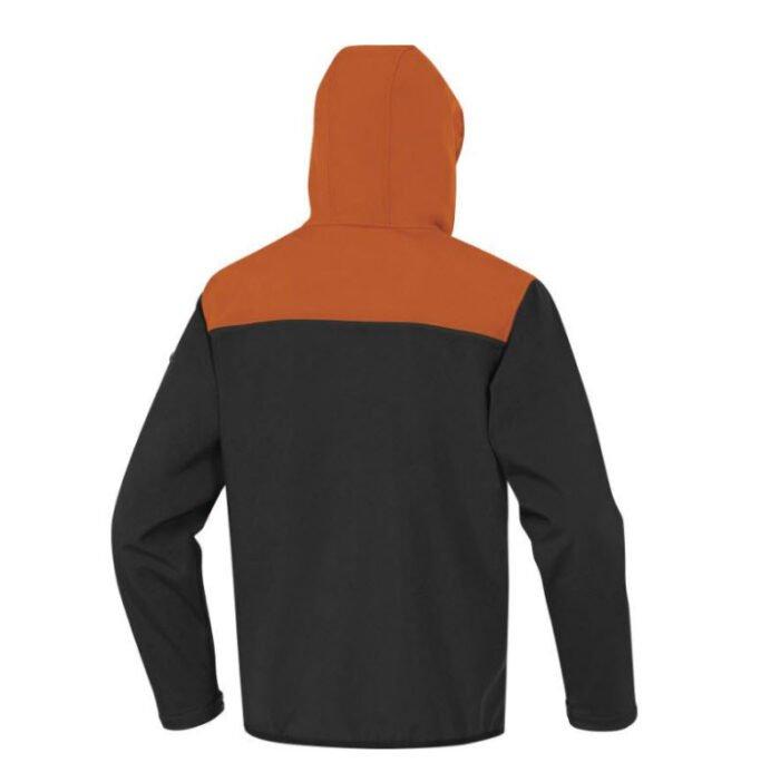 delta plus horten softshell 3 lagen jack oranje zwart 2